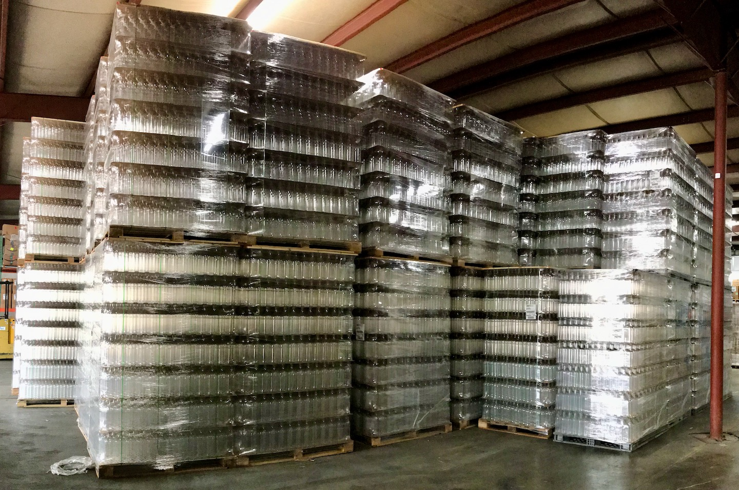 Picture of thousands of bottles