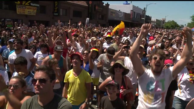 World Cup Fans Pack North Park Streets