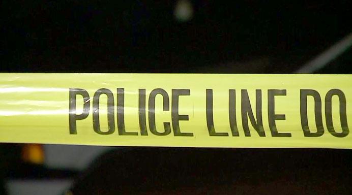 Police Line Crime Tape Night