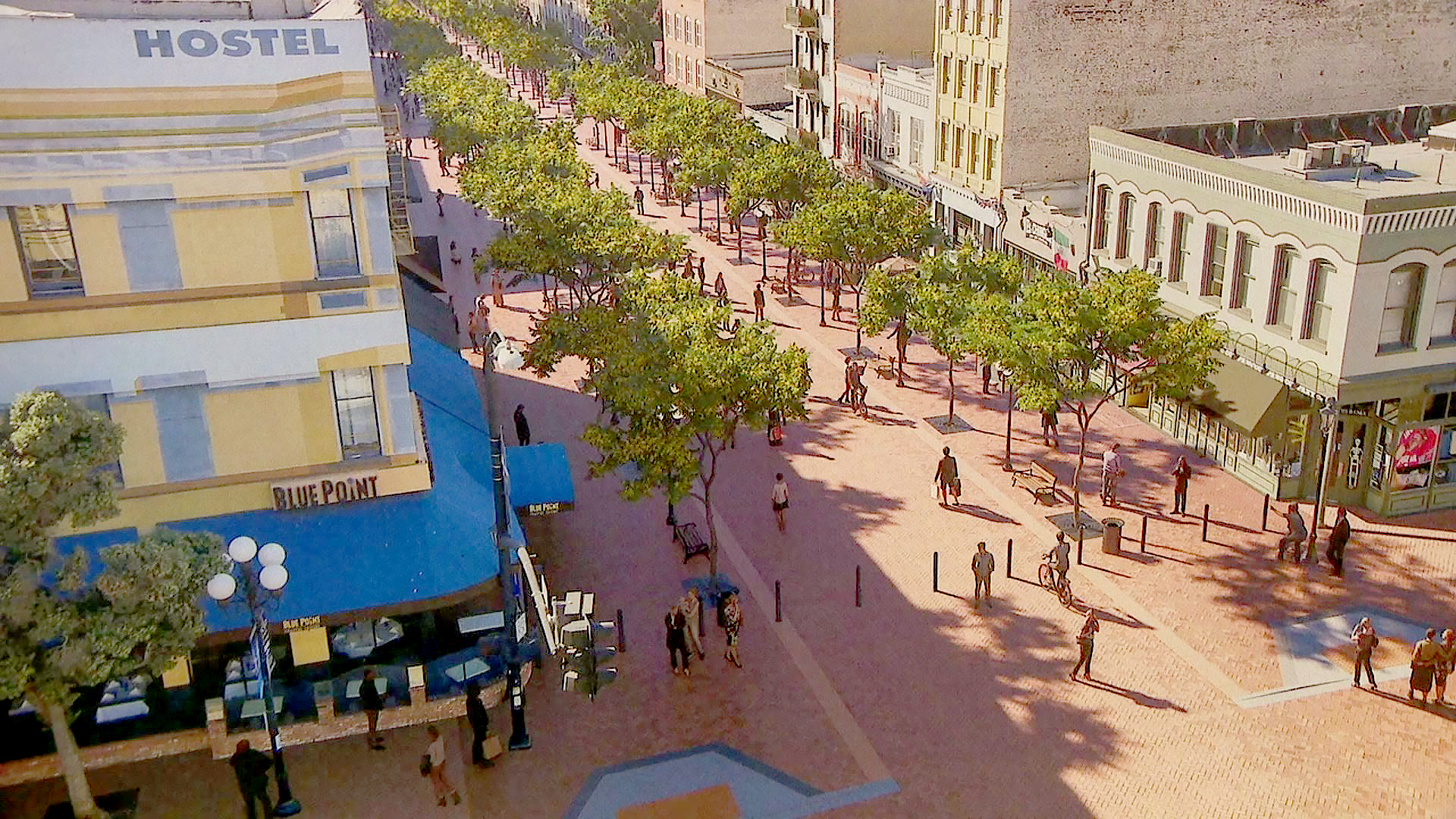 The Gaslamp Quarter Association is proposing an ambitions $40 million plan to create and eight-block pedestrian promenade on Fifth Avenue.