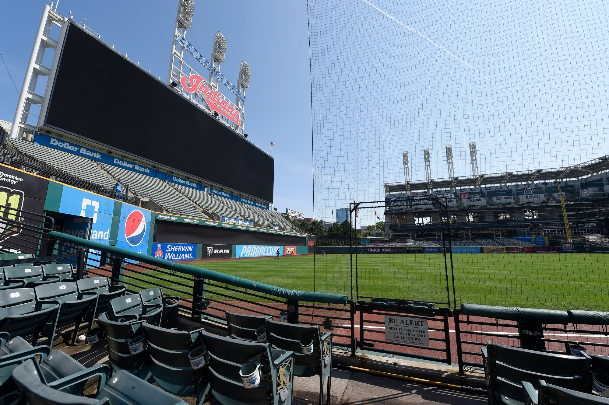 Progressive Field during summer workouts on July 06, 2020 in Cleveland, Ohio.