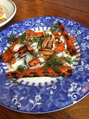 barbecued carrots