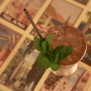 lady pamplemousse with ice and mint