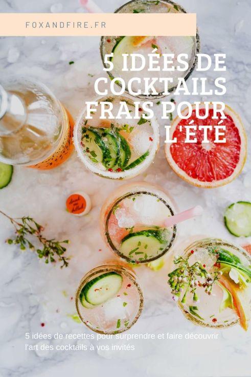 Recette de cocktails frais pour l'été