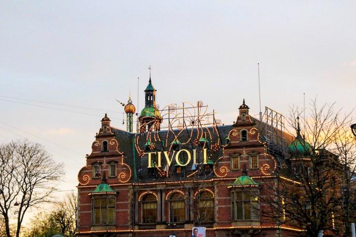 Les jardins de Tivoli à Copenhague