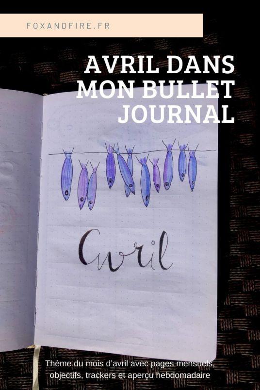 Bullet journal Thème du mois d'Avril