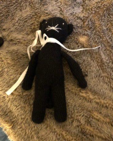 Doudou chat en crochet