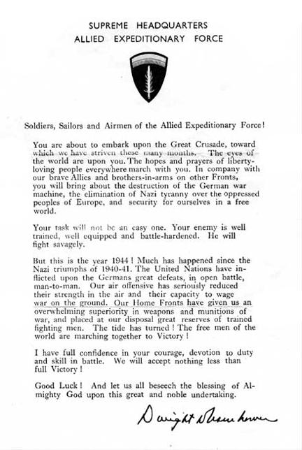 d-day letter