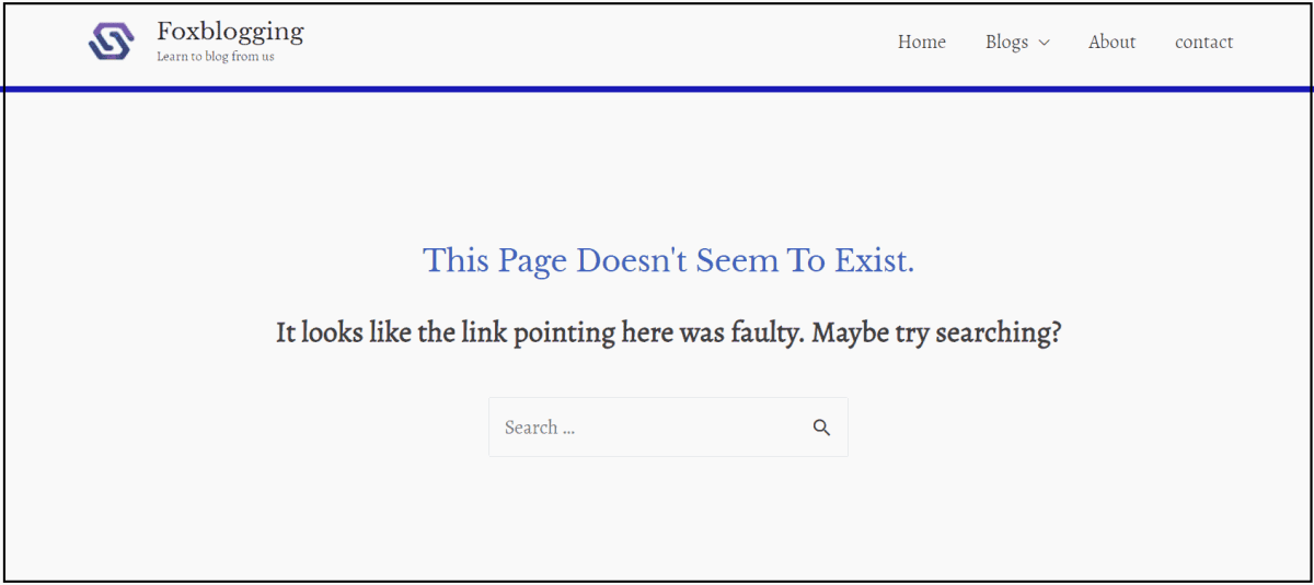 404 error pages in wordpress site
