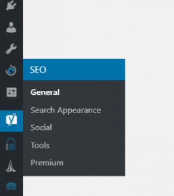 Yoast SEO settings page