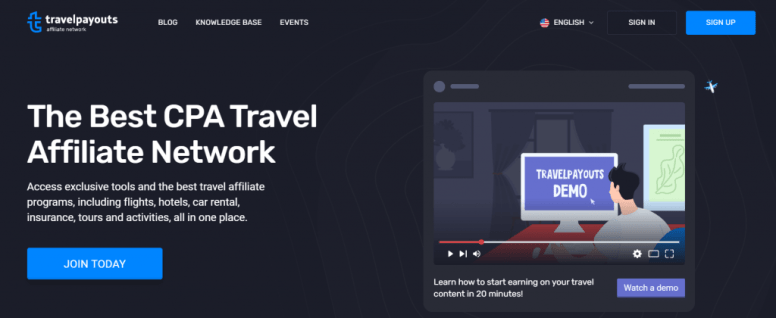 Travel affiliate network to join - CPA based