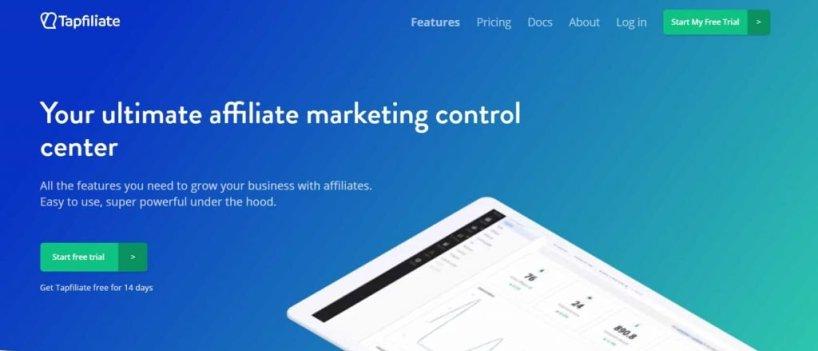 Tapfiliate - Start affiliate program