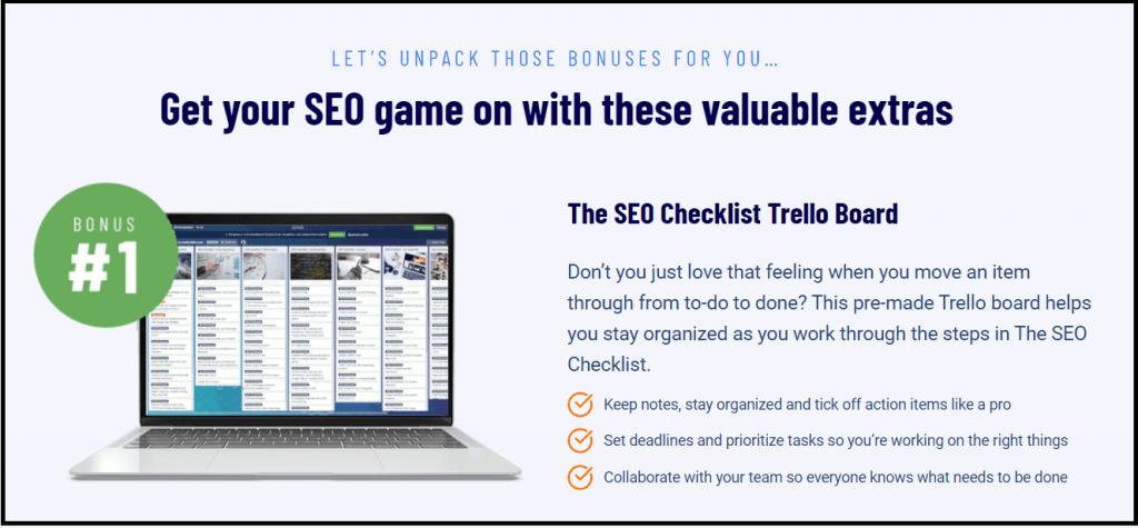 Extra bonus checklist for Trello board
