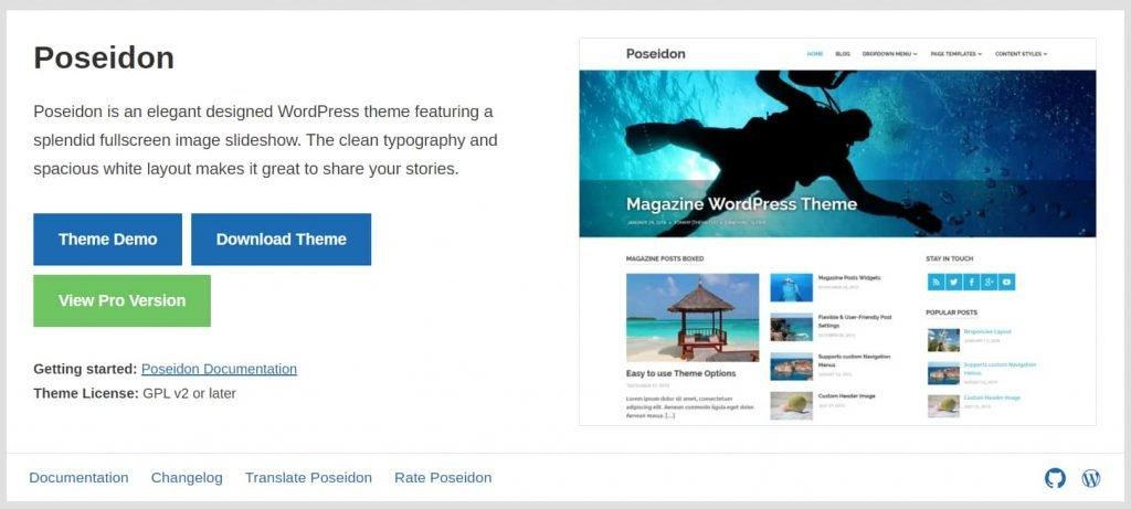 Poseidon - Better WordPress Blog themes