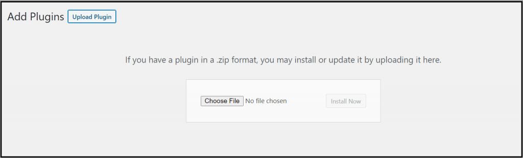 Upload the WordPress plugin to install