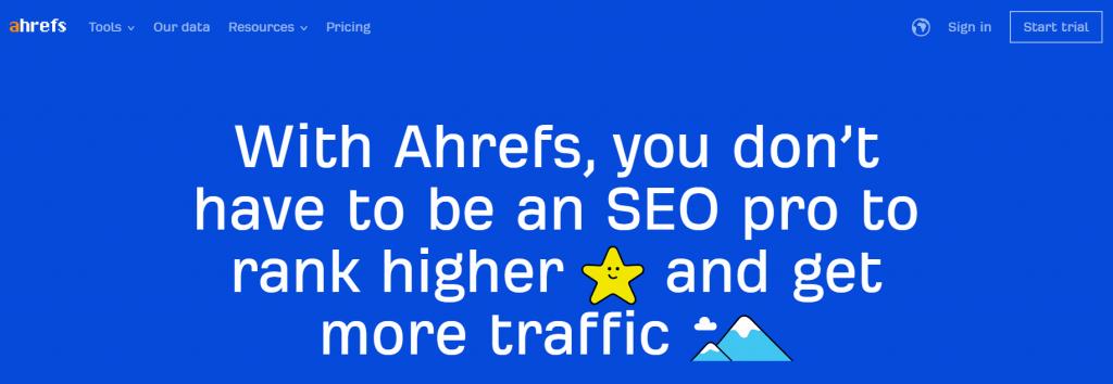 Ahrefs - Tool for generating keywords