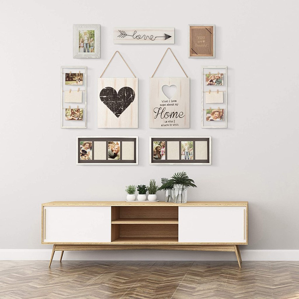 Gallery Perfect 17FW1938 Rustic Collage Gallery Wall Kit Picture Frame Set