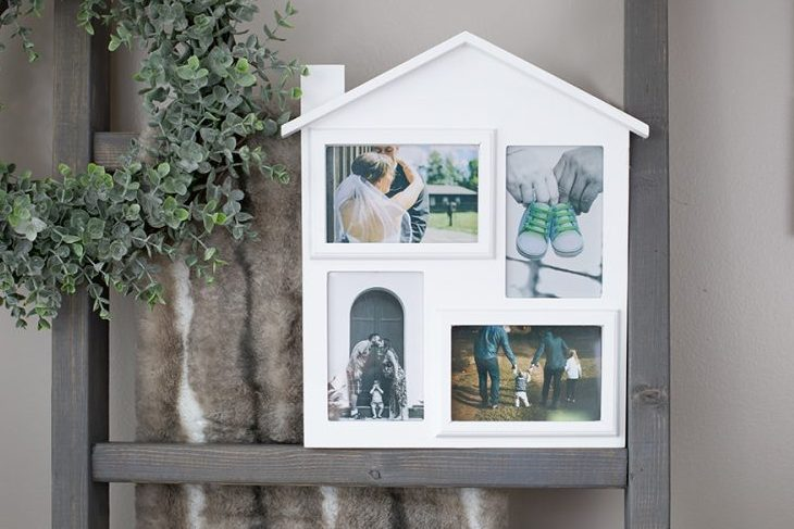 FoxCarr Picture Frame with Four 4 x 6 Picture Openings