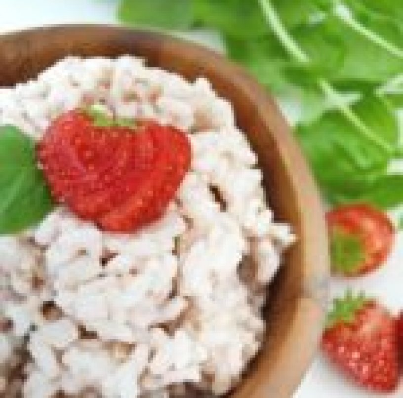 My vegan strawberry risotto