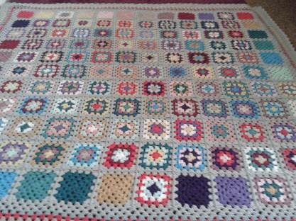 Pastel granny blanket