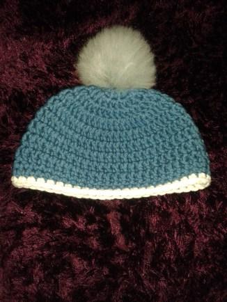 Beanie hat with Toft alpaca pom pom