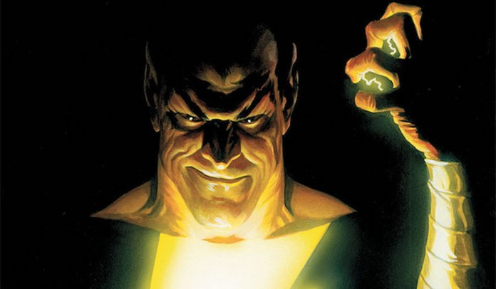 Black Adam with his powers