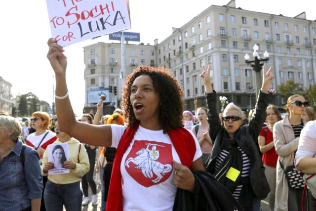 Demand for Belarus President's resign: March by 10,000 Women
