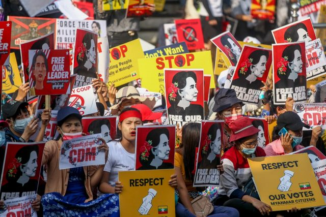Myanmar Protestors' resolve strengthen following death of activists