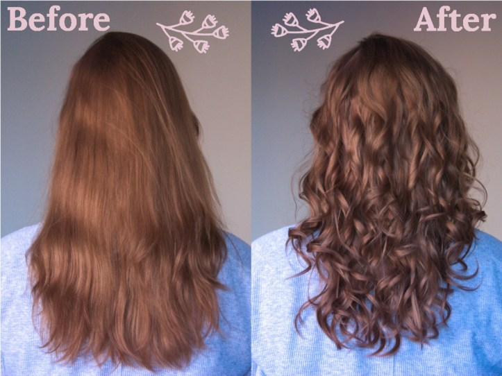 Pictures of before and after I used the Babylis Curl Secret.