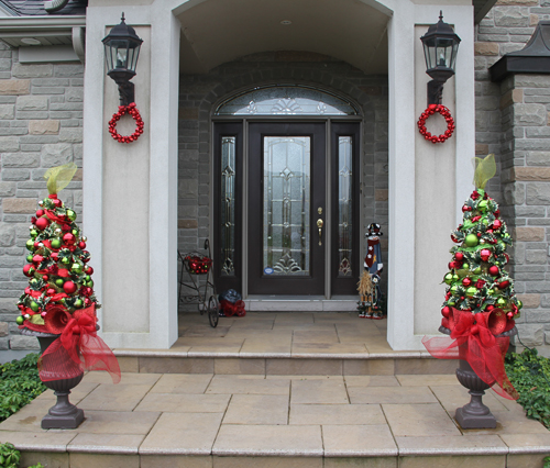 Topiary Trees Front Porch