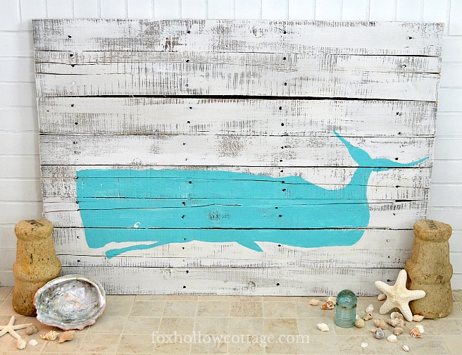 Coastal Whale Palette Art by Fox Hollow Cottage