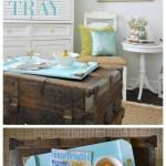 Simple Serving Tray A Coastal Home Decor Diy Fox Hollow Cottage
