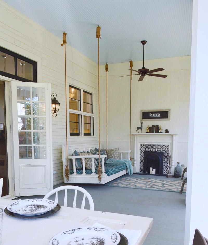 Porch Floor Benjamin Moore Duxbury Gray Hc 163. Southern Home Paint Color  Palette Fox Hollow Cottage