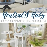 Neutral Navy Living Room Refresh Fox Hollow Cottage