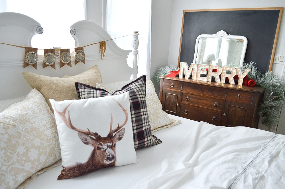 Christmas Guest Bedroom At The Little Cottage