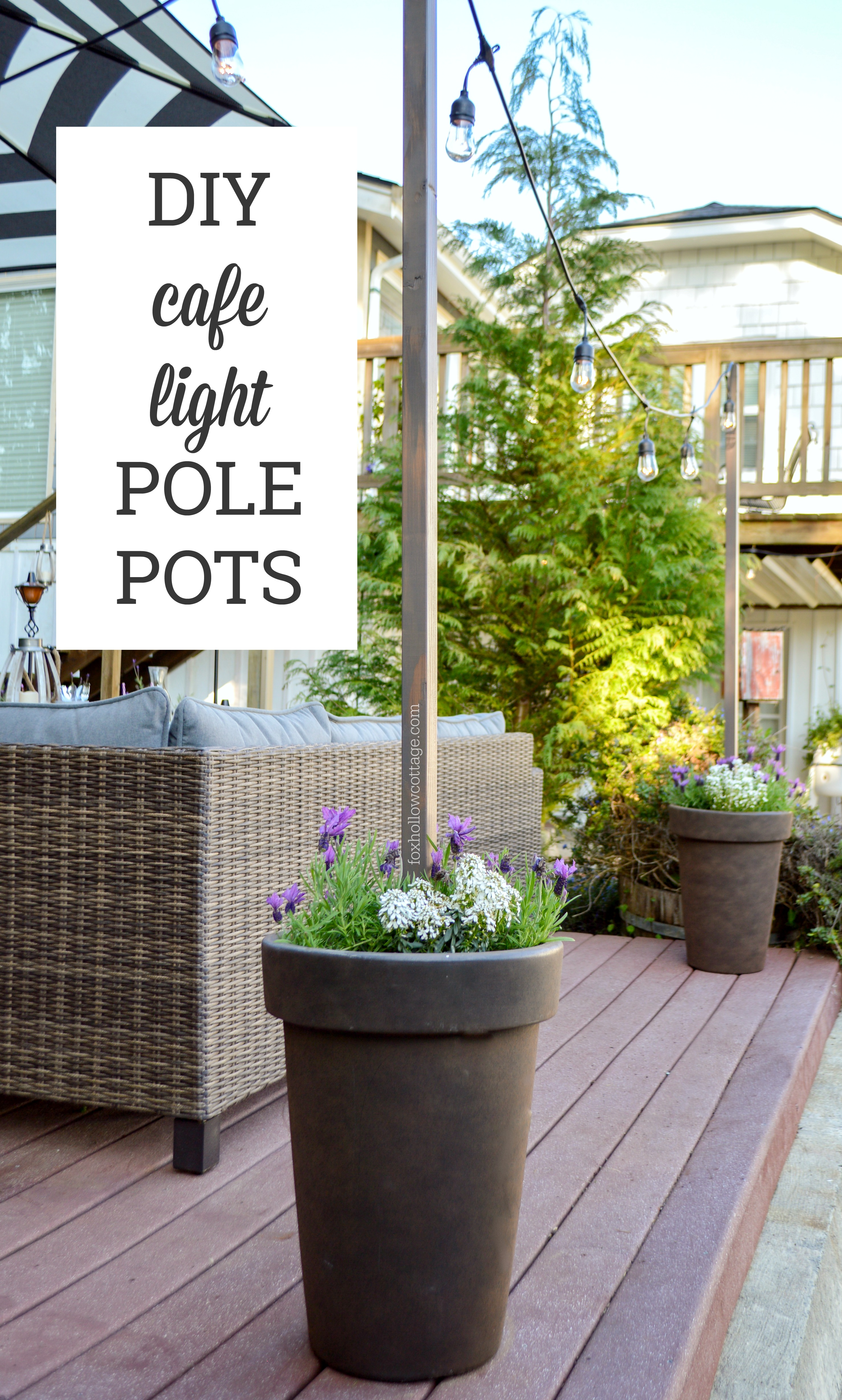 diy planter pot poles for