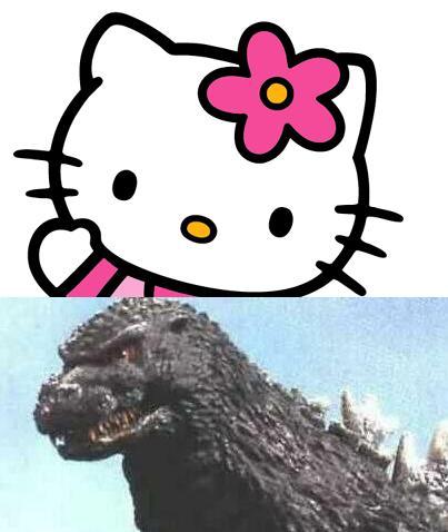 Hello Kitty vs. Godzilla