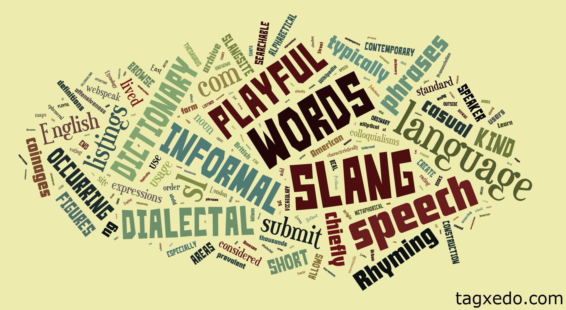 List Of Slang