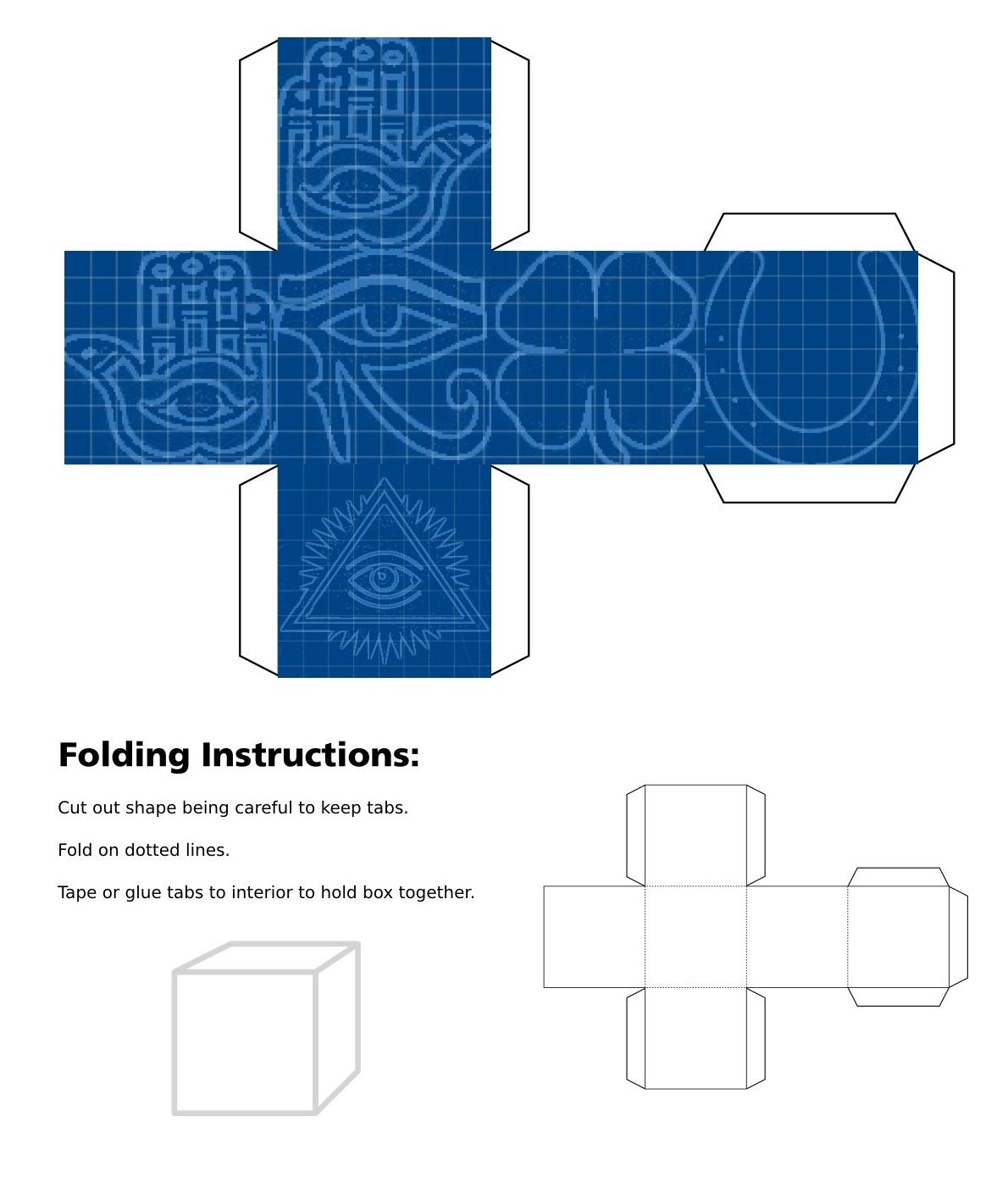 Blueprint Good Luck Cube
