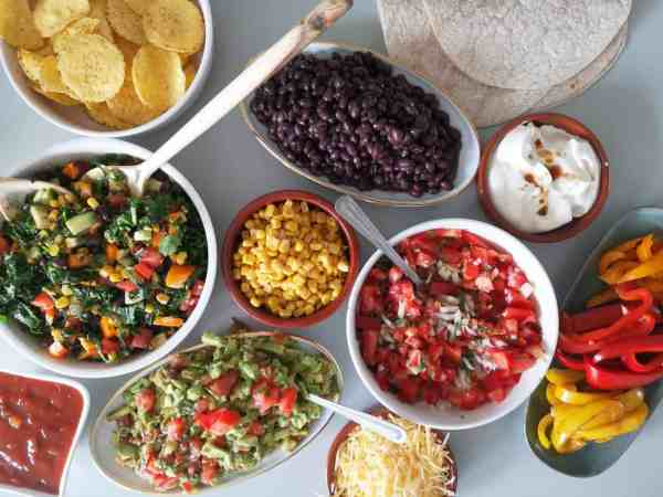 Vegetarische Mexicaanse maaltijd