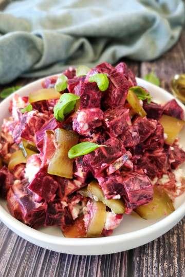Salade van rode biet en feta