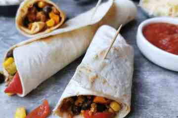 Vegetarische wraps met vegetarisch gehakt