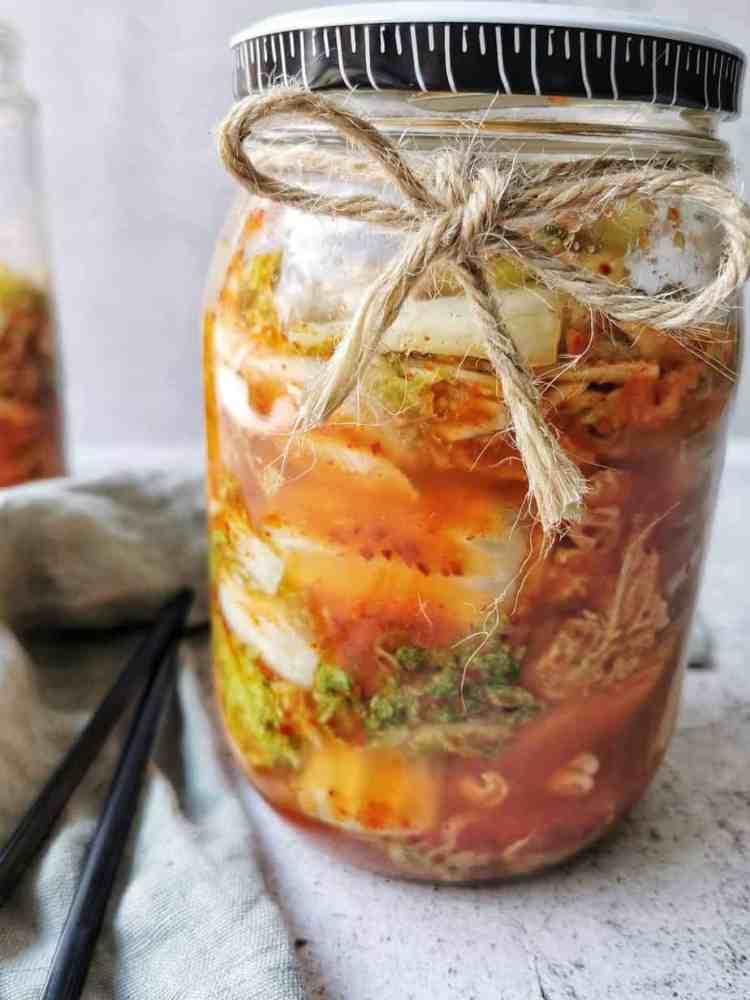 Koreaanse kimchi fermenteren