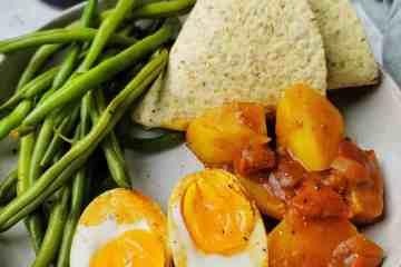 Wraps met sperziebonen, ei en aardappel