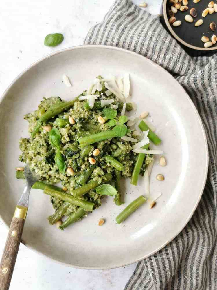 Gezonde vegetarische risotto