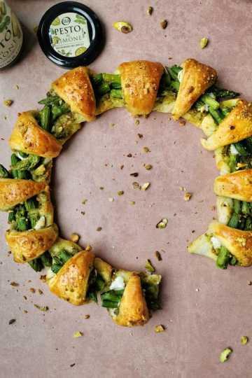 Croissant ring van croissant deeg