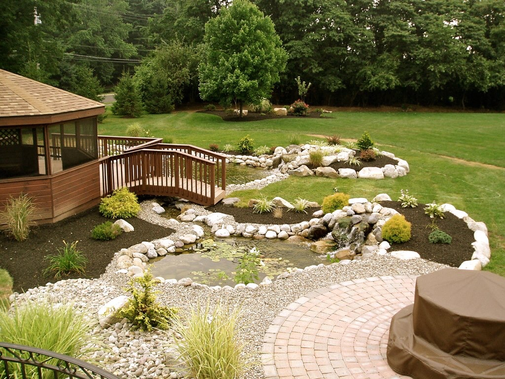 Beautiful Backyard! - FOX LANDSCAPE DESIGNS l Bucks County ... on Backyard Hardscape Design id=36303