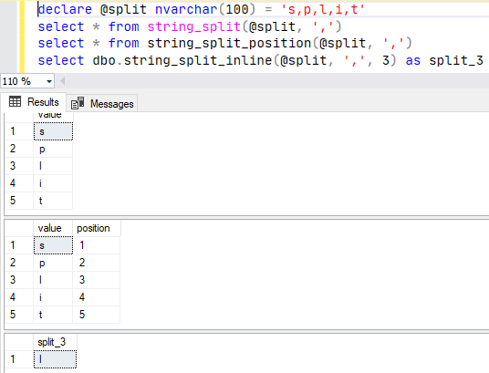 Split string SQL Server