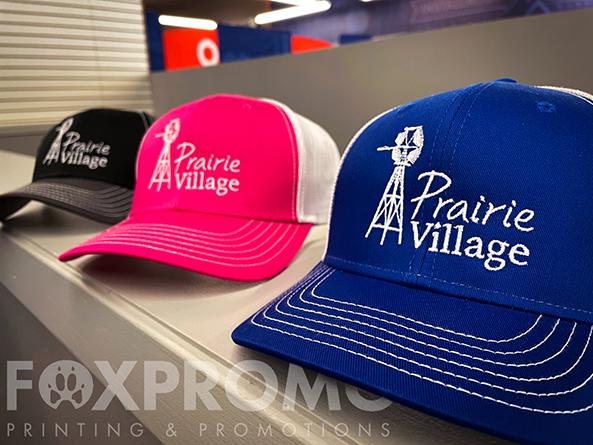 Prairie Village Hat Embroidery