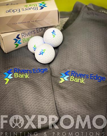 Rivers Edge Bank Polo Embroidery